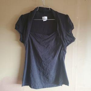 Caren Sport Black Short Sleeve Shirt sz 2XL